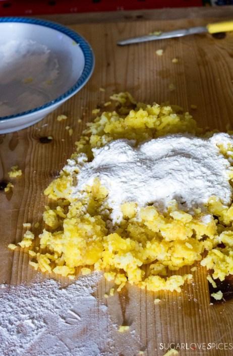 Homemade Potato Gnocchi-potatoes and flour