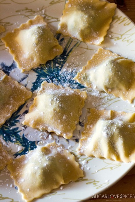 Ricotta and Spinach Ravioli in Tomato Sauce-ravioli
