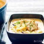 Butternut Squash Grilled Corn Chowder-closeup