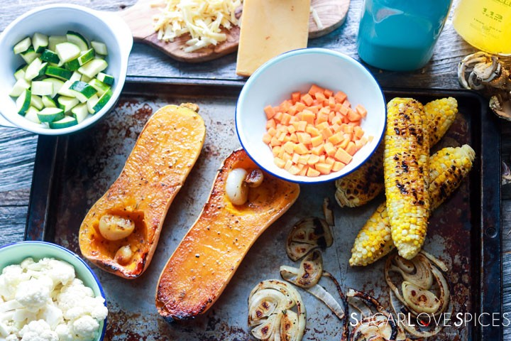 Butternut Squash Grilled Corn Chowder-ingredients
