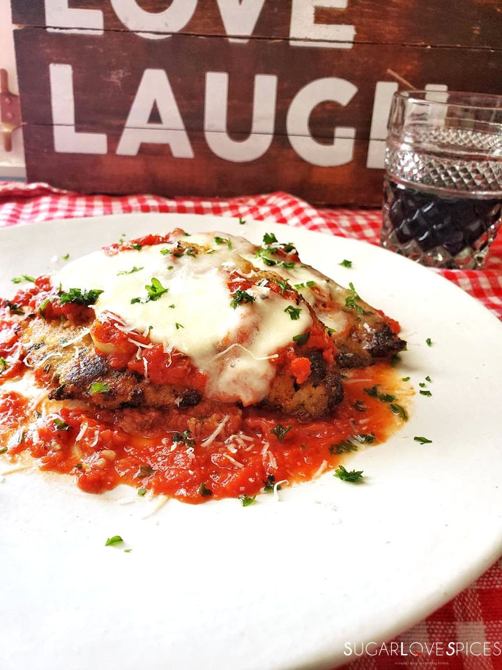 Chicken Parmigiana-board