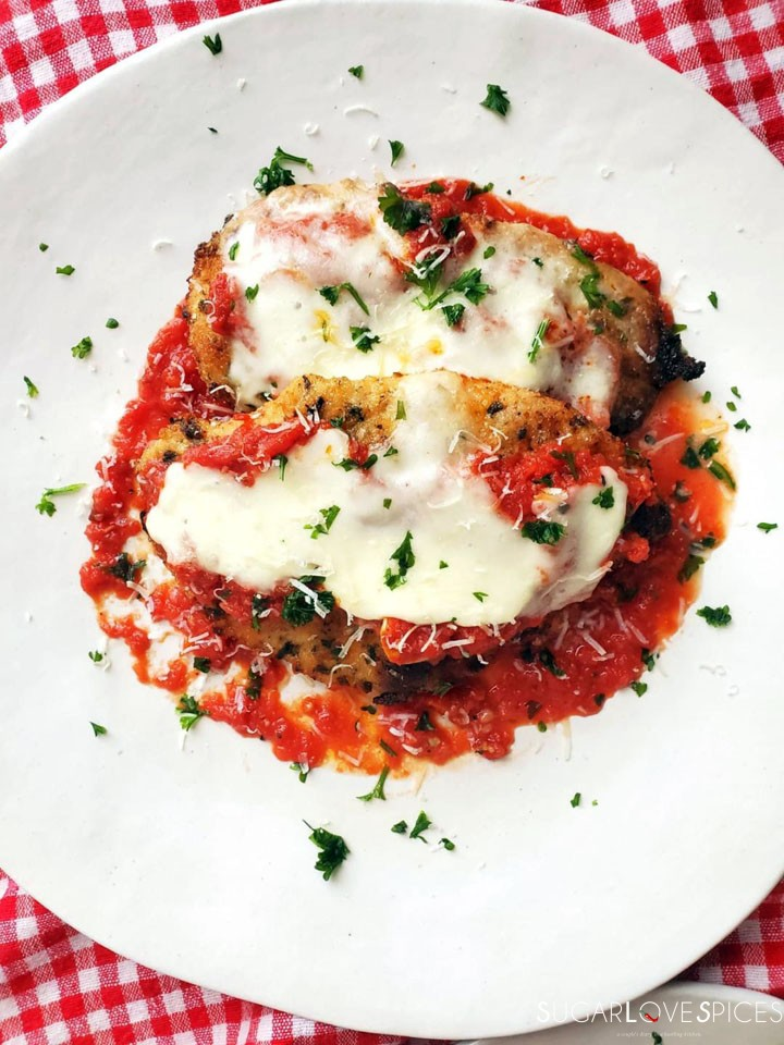 Chicken Parmigiana-in the plate