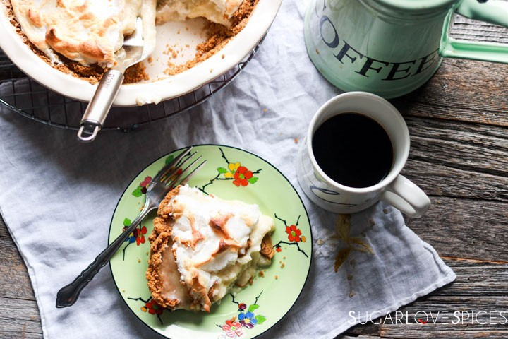 Flapper pie, Truly Canadian-slice and coffee