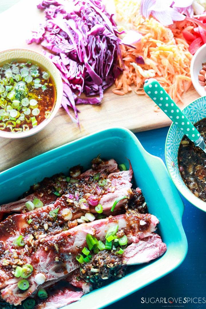 Korean-style Shortribs-marinating