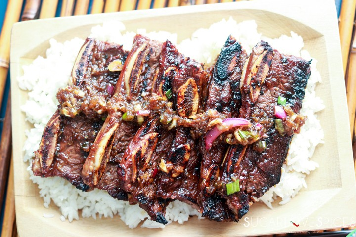 Korean-style Shortribs-ribs on rice