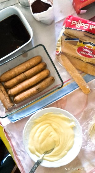 Pastry cream tiramisu-preparation