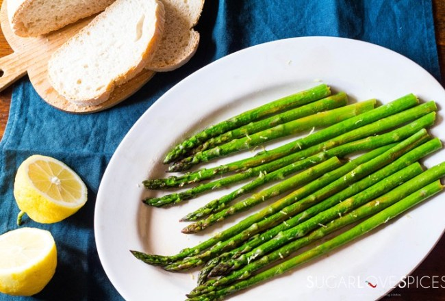 Simple Stove top Lemon Asparagus-from the top