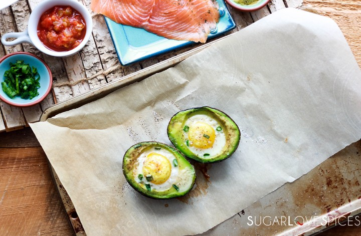 Aguacate Relleno-Stuffed Avocado-baked