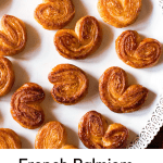 French palmiers with homemade puff pastry