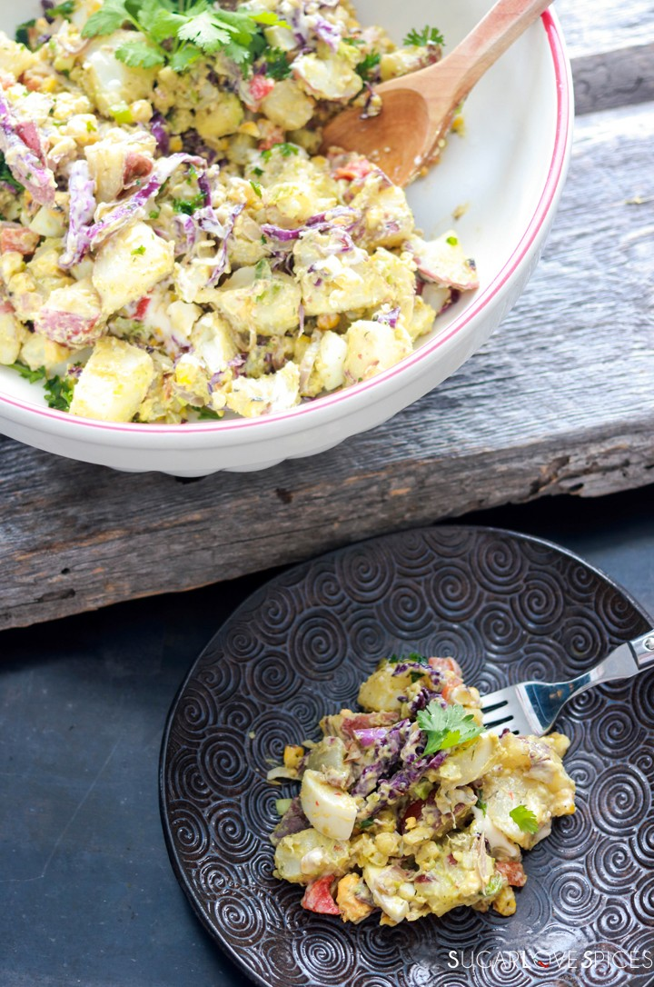 Potato Salad Deluxe-plate and bowl