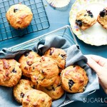 Blueberry Rhubarb Yogurt Muffins with Spelt Flour-feature