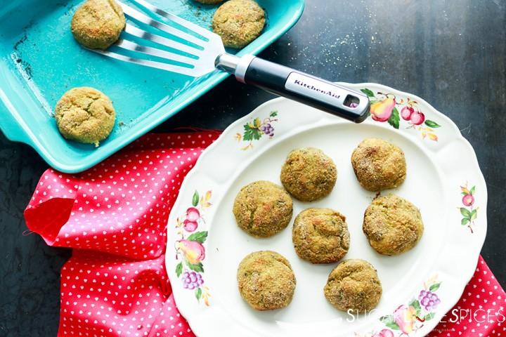 asparagus croquettes-serving dish and baking pan
