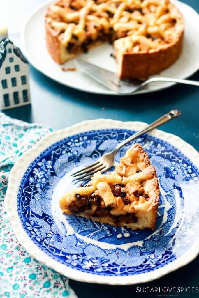 Dutch Apple Tart-slice