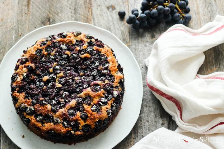 Torta Bertolina, Italian Grape Cake-cake whole