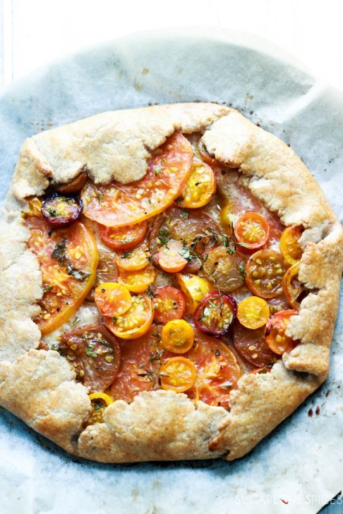 heirloom tomato galette-after