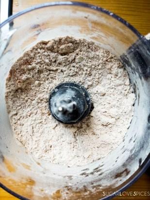 Jamaican Beef Patties-flour-butter-in the food processor