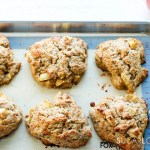 Spiced Apple Eggnog Scones-scones on baking sheet