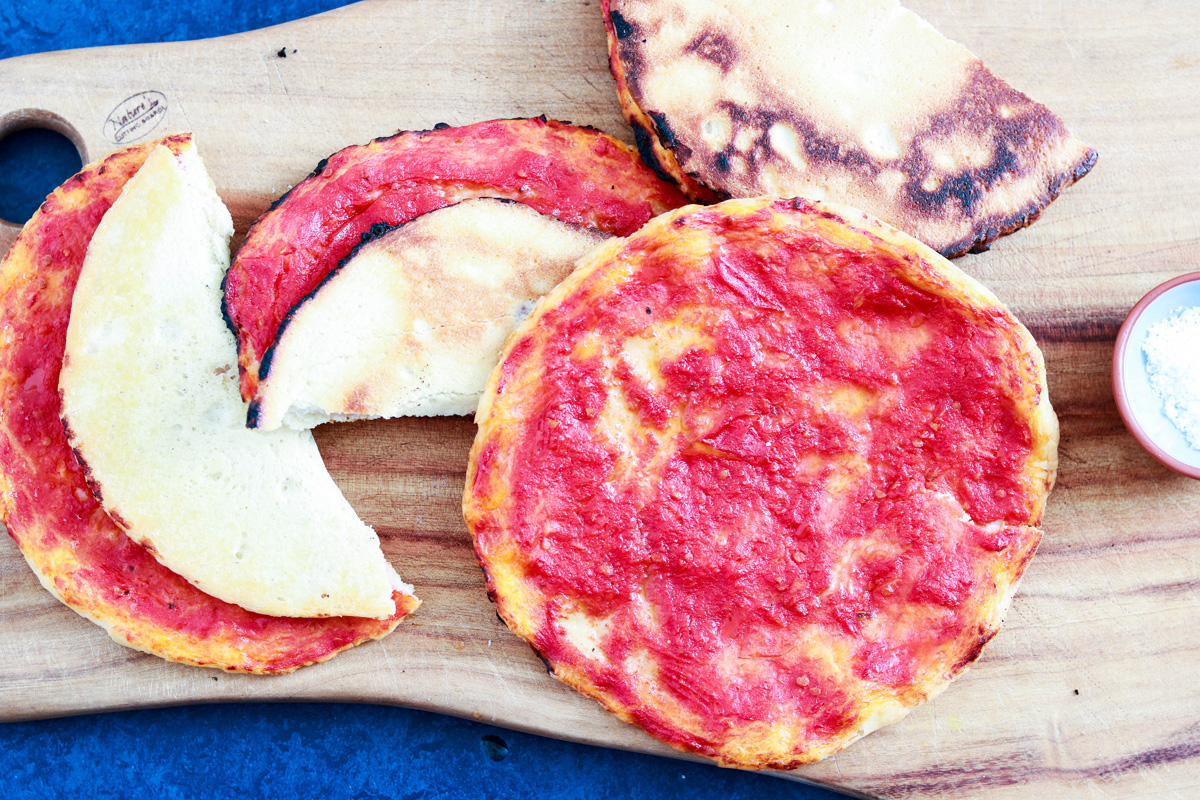 Homemade Pizzette Rosse, a classic Italian snack