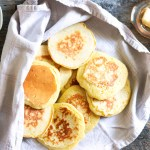 Easy Traditional Scottish Crumpets with baking powder-feature-crumpets in a towel