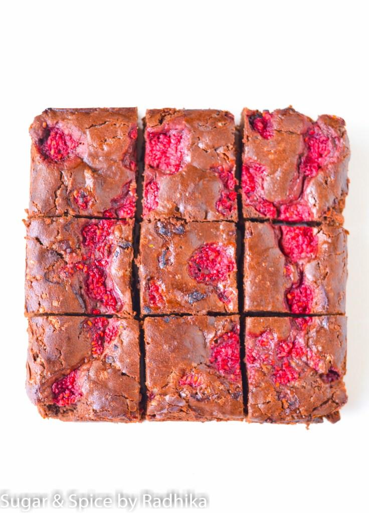 Dark Chocolate Raspberry Brownies