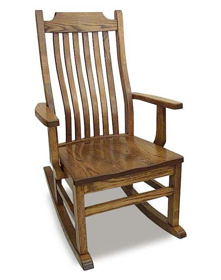 Amish 76 Mission Rocking Chair  Amish Family Room and