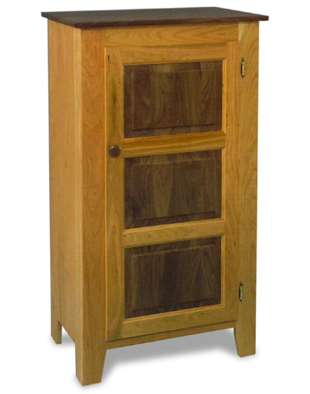 Jelly Cabinet in Walnut and Cherry  Amish Dining Room