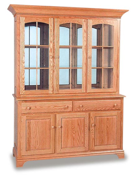 Deluxe Amish Dining Room Hutch  Amish Dining Room