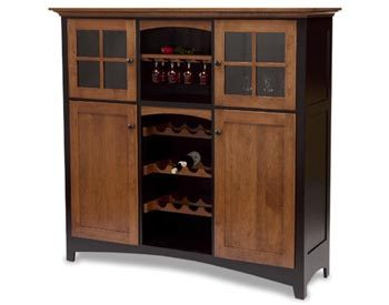 Painted Baltic French Wine Cabinet  Amish Dining Room
