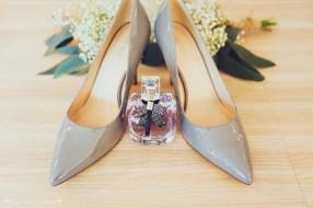 brides shoes, wedding shoes, perfume, bouquet