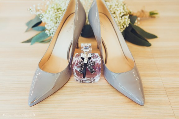 brides shoes, wedding shoes, perfume, bouquet