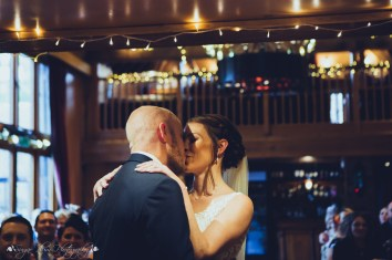 first kiss, kiss the bride, wedding ceremony, the hundred house