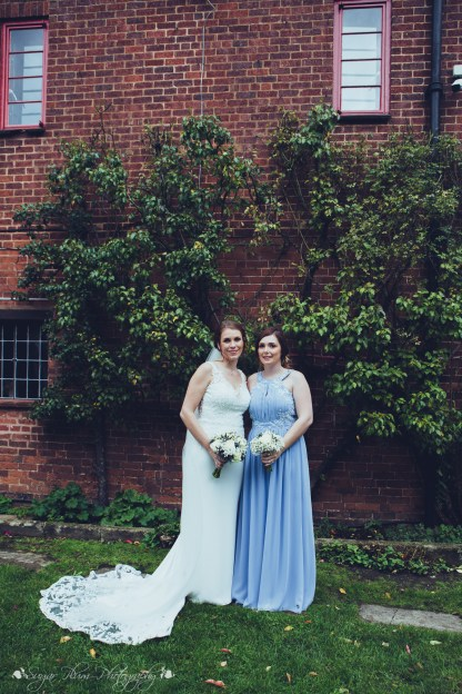 bride, bridesmaid, the hundred house