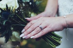 wedding ring, details, bouquet