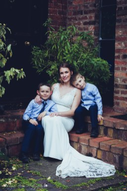 mother and sons, page boys, bride, relaxed, portraits