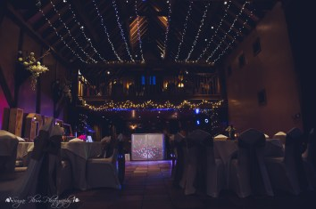 evening reception, the hundred house, barn, dj