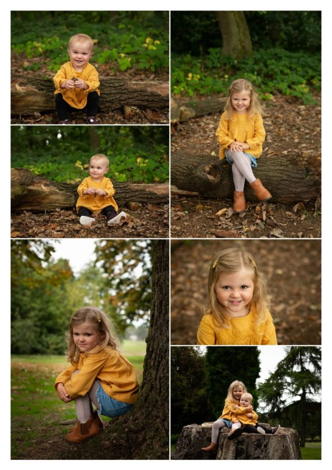 outdoor photography session family children portraits