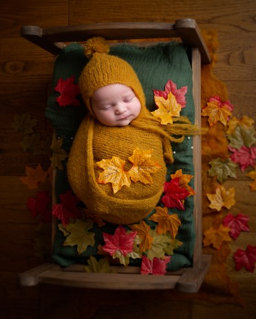 autumn leaves baby newborn photos session dudley west midlands