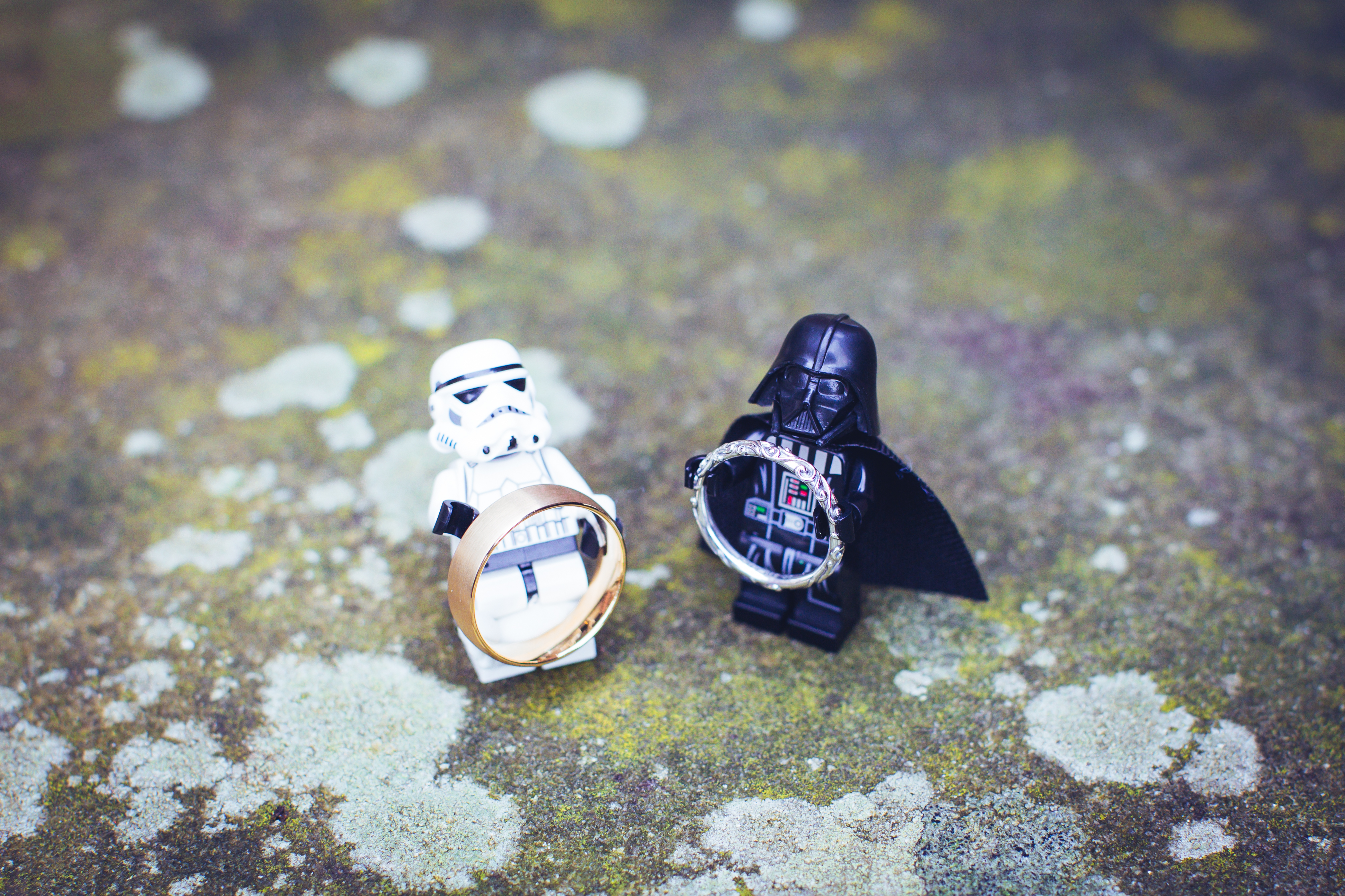 haden hill house wedding photography rings star wars lego men