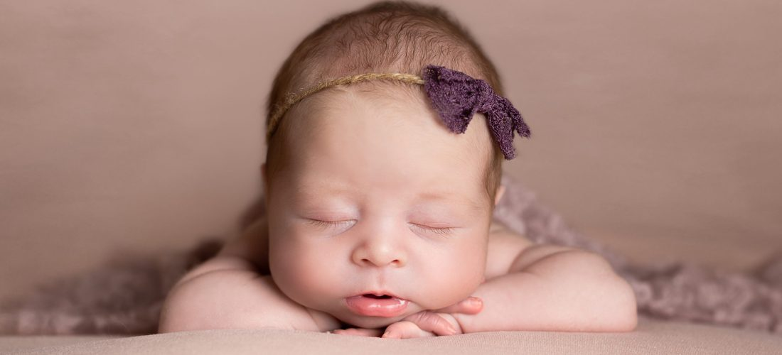 newborn photography photoshoot baby girl pink