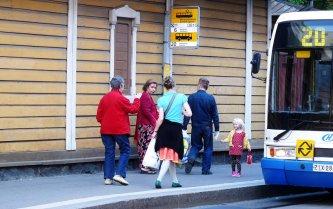 Helsinki Bushaltestelle