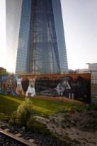 Graffiti am EZB-Neubau 2