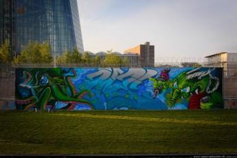 Graffiti am EZB-Neubau 5
