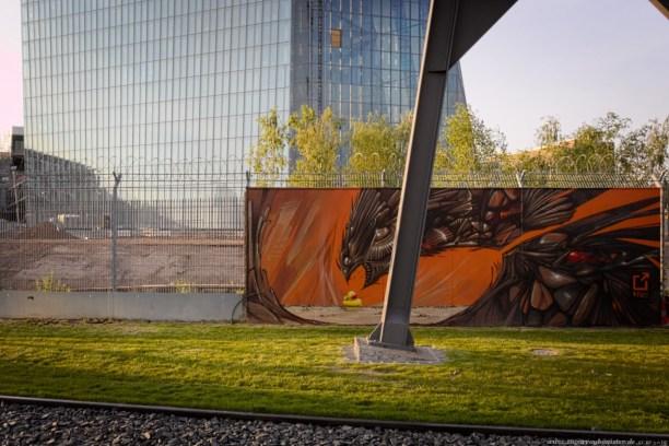 Graffiti am EZB-Neubau 9