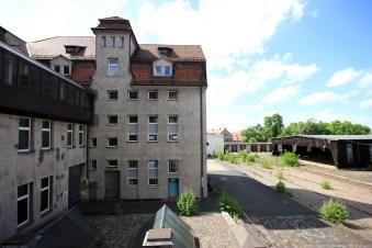 Straßenbahndepot in Nürnberg Muggenhof #28 - Blick in den Hof