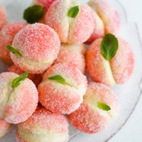 Orange infused sweet ricotta peach cookies