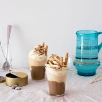 Ice cream iced coffee with whipped cream