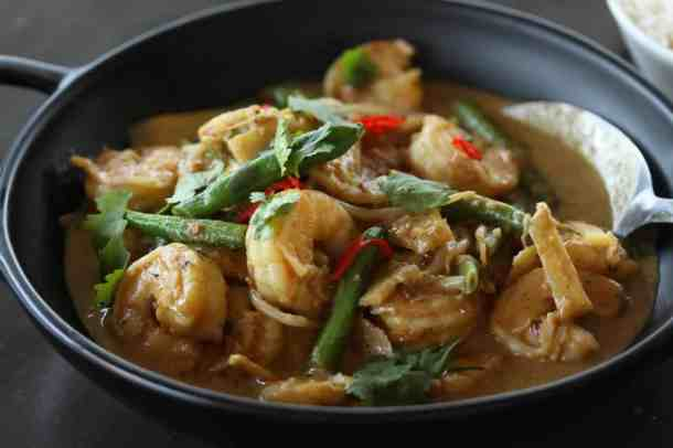 Thai Panang Curry with Prawns