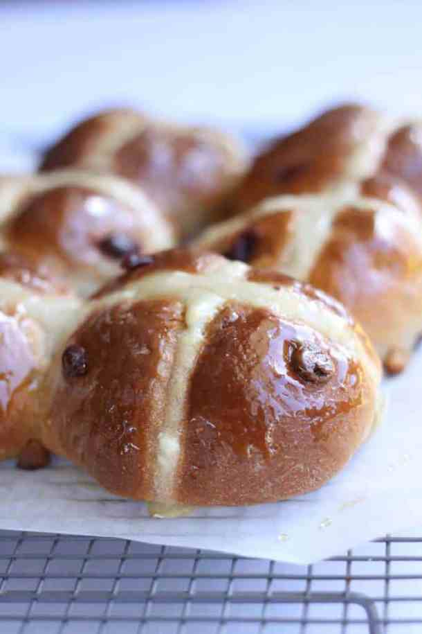 Cranberry White Chocolate Hot Cross Buns by Sugar Salt Magic