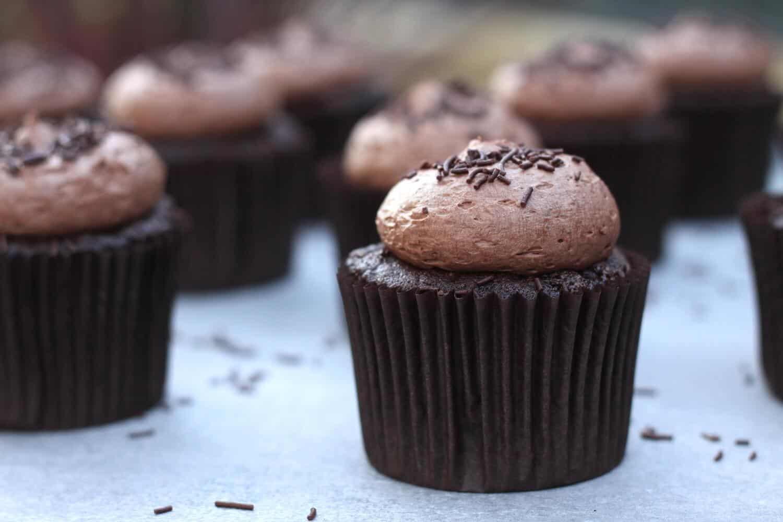 Chocolate Chocolate Cupcakes | Sugar Salt Magic