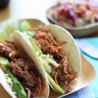 Pulled Pork (Tacos with BBQ Sauce)